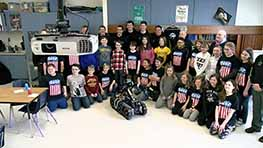 Black River Students Win A Visit From Bomb Squad Robot
