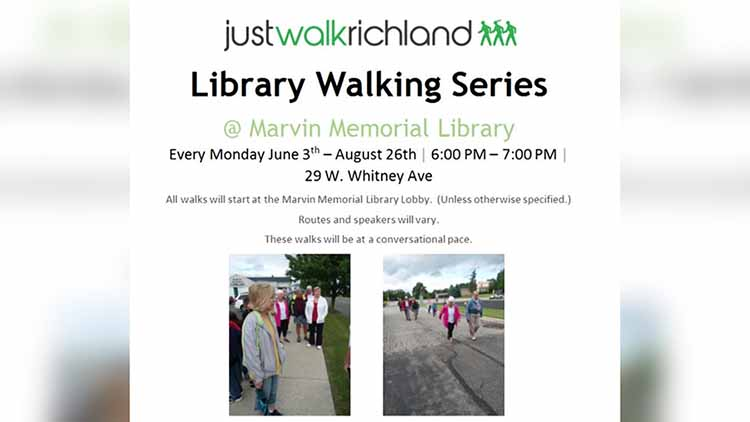 Marvin Memorial Library Announces Walk and Talk Schedule